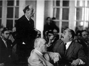Photo: P.M.A. Dirac, L. Infeld, V.A. Fock